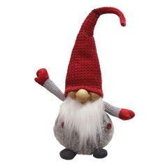 <div>Add some mystical enchantment to your Christmas decor with this charming gnome. This white ...