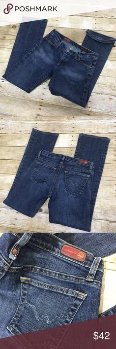 "Adriano Goldschmied The Kiss dark wash jeans- 4 Anthropologie AG Adriano Goldschmied ""The Kiss"" dark wash jeans in size 27R/ 4. Excellent near new condition- see all pics for measurements🤗 AG Adriano Goldschmied Jeans Boot Cut"