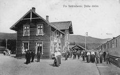 Dokka stasjon Valdresbanen tidlig 1900-tall Oppland fylke