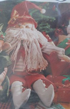 Jingles Santa Felt Craft Kit 28174 Meredith Corp. Abbie Ray Vintage 1989 Sealed #MeredithCorp