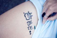 Myles Katherine's Totoro tattoos. Photo by Ammalynn Imagery, 2013