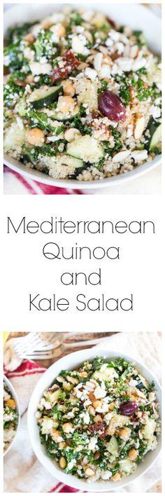 Mediterranean Quinoa and Kale Salad