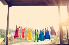 Rainbow coloured dresses