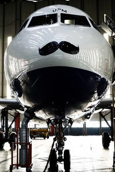 British Airways : Mustache Aircraft (Take to the sky... with your mustache flapping in the wind) (I only fly CLASSY planes)