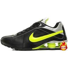 www.asneakers4u.com Mens Nike Shox R4 Black Green Grey