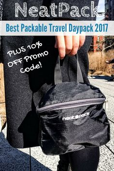 We have been on the search for a water resistant, packable travel daypack for ages and finally have a winner! The NeatPack daypack is the BEST daypack on the market right now. It folds up to a small size and easily hooks onto our travel backpack so we can Travel Items, Travel Gadgets, Travel Gifts, Travel Products, Travel Hacks, Travel Necessities, Travel Toiletries, Travel Essentials, Packing Tips