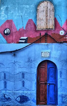 Asilah, Morocco by toyaguerrero, via Flickr | I'm obsessed with this culture's architecture and use of color.