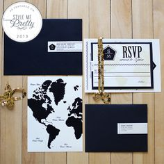 Black + Gold Inspired Photo Shoot from Valerie Busque Wedding Stationary, Wedding Invitations, Invites, Gold Wedding, Wedding Day, Black Gold, Black And White, Wedding Pictures, Color Combos