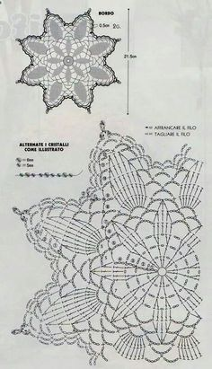 World Crochet: Motif 296 - Diy Crafts Crochet Doily Diagram, Crochet Doily Patterns, Filet Crochet, Crochet Motif, Diy Crochet, Crochet Designs, Crochet Crafts, Mandala Crochet, Diy Crafts