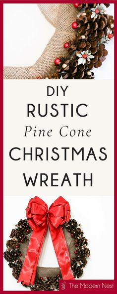 Door wreaths diy rustic pine cones 22 ideas for 2019 Christmas Crafts For Kids To Make, Simple Christmas, Crafts To Do, Home Crafts, Christmas Diy, Christmas Wreaths, Diy Crafts, Holiday, Diy Wreath