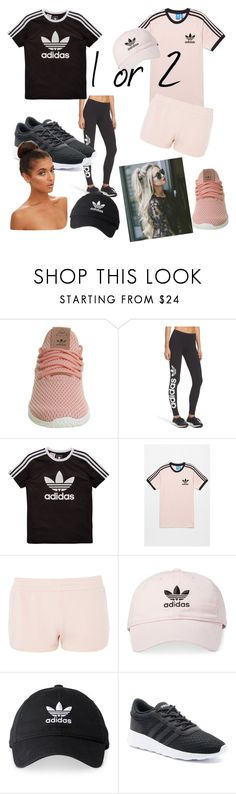 """1 or 2??"" by veggiegirl101 ❤ liked on Polyvore featuring adidas and adidas Originals"