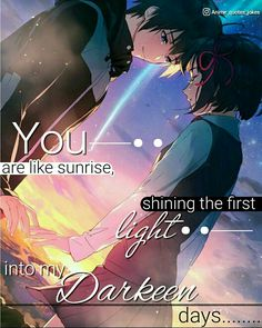 Animequotes Anime Quotes Kimi no na wa Best quotes Your Name Quotes, My Life Quotes, Happy Quotes, True Quotes, Best Quotes, Sad Anime Quotes, Manga Quotes, Kimi No Na Wa, Your Name Anime