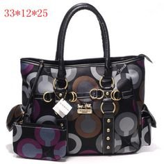 Coach Madison Graphic Op Art Tote Bag Black [Coach-0715] - $55.43 : Coach Outlet Canada Online