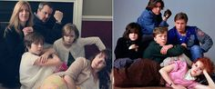 """A family photo inspired by """"The Breakfast Club"""" — genius. You Funny, Funny People, Funny Kids, Funny Family Portraits, Family Photos, Freaking Hilarious, Really Funny, Family Humor, Mike Tyson"""