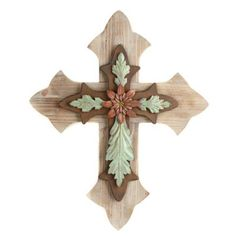 Rustic Wood & Metal Cross | Kirkland's