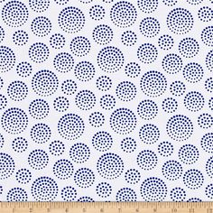 Elements Triangle Eclipse White from @fabricdotcom  Designed by Another Point Of View for Windham, this cotton print fabric features tiny dots and is perfect for quilting, apparel and home decor accents. Colors include white and blue.