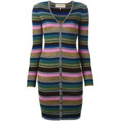 Emilio Pucci Long Striped Cardigan (€695) ❤ liked on Polyvore featuring tops, cardigans, green, colorful cardigans, green top, emilio pucci, striped top and multi color cardigan