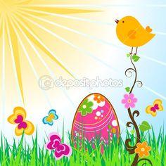 Easter card — Stockvectorbeeld