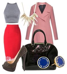 """Untitled #7"" by kellysiahalim on Polyvore featuring Ermanno Scervino, Marni, Louis Vuitton, Marc by Marc Jacobs, Christian Louboutin and Alexis Bittar"