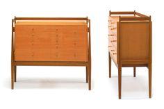 Model 102 cupboard, in Teak and Oregon Pine (Douglas Fir), Studio Kitani. Finn Juhl.