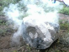 Volcanic bomb thrown by Telica volcano