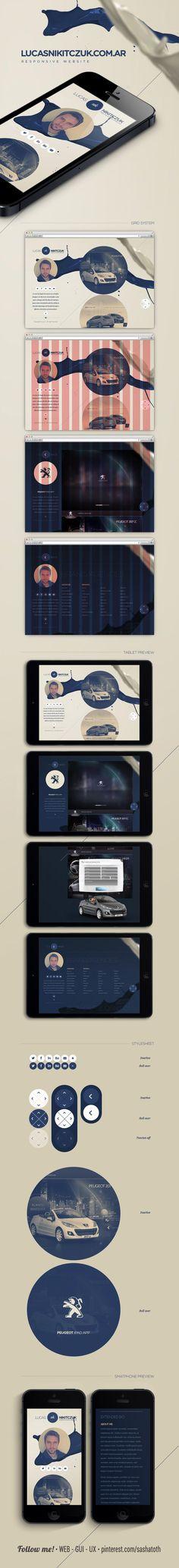 "Lucas Nikitczuk | Responsive Website *** ""This is my personal portfolio made with responsive design."" by Lucas Nikitczuk"
