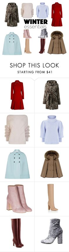 """""""Winter essentials"""" by kimrbailey-1 on Polyvore featuring Roland Mouret, Lands' End, Max & Moi, Temperley London, Valentino, Laurence Dacade, Gianvito Rossi, Victoria Beckham and Bamboo"""