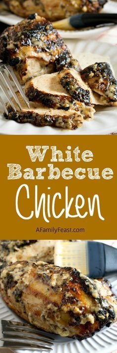 Chicken This White Barbecue Chicken is sure to become a new crowd favorite at your summer cookouts!This White Barbecue Chicken is sure to become a new crowd favorite at your summer cookouts! Turkey Recipes, Meat Recipes, Chicken Recipes, Cooking Recipes, Barbecue Chicken, Barbecue Sauce, Marinated Chicken, Grilled Chicken, Chicken