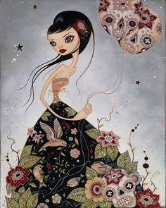 The very pretty pop surrealist art of Caia Koopman: