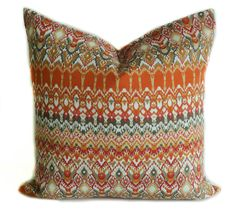 Orange outdoor pillow cover 20x20 Outdoor pillows by PillowCorner