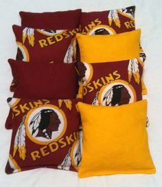 Redskins Cornhole bags Set of 8 by SewingWhat on Etsy, $24.00