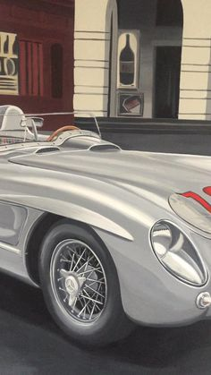 This is the Mercedes driven by Stirling Moss in the Mille Miglia 1955, the fastest car ever to participate in this race. Brescia-Rome-Brescia in 10 Hours 7 minutes at an averha speed of 160 km/h and top speed 275 km/h. The second position went to the argentinian Juan Manuel Fangio and arrived half an hour later Racing Car Design, Mercedes Benz 300, 7 Minutes, European History, Classic Italian, Stirling, Fast Cars, Exotic Cars, Luxury Cars