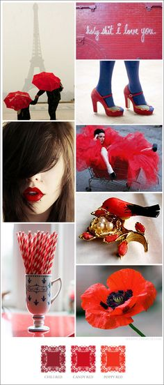 13-must-have-red-my-mind, Color Moodboard , Inspiration for Choosing Color Combinations for Art Projects, Interior Design, Color Schemes, Color Combos with Color Moodboards Color Swatch, Red, Love, Black