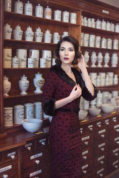 Pharmacy by Lena Błachowicz / Pharmacy, Vintage Ladies, Vogue, Portrait, Lady, Style, Fashion, Swag, Moda