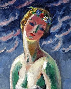 Kees van Dongen (1877-1968) Cérès. He was a Dutch painter and one of the Fauves. He gained a reputation for his sensuous, at times garish, portraits.