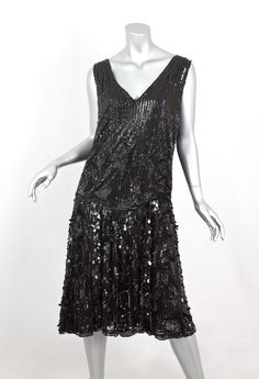 Sequined tulle dress, c.1925