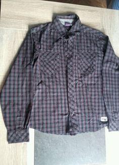 À vendre sur #vintedfrance ! http://www.vinted.fr/mode-enfants/chemises-and-t-shirts-chemises-manches-longues/39804536-chemise-manche-longue-orchestra-grise-a-carreaux