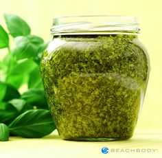 Making your own pesto from scratch is easy and delicious! Use this basil and walnut paste as a spread on sandwiches, or use as a topping for meat, roasted vegetables, or whole grain pasta. // condiments // toppings // sauces // healthy recipes // herbs // vegan // vegetarian // homemade // Beachbody // BeachbodyBlog.com