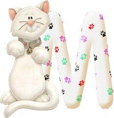 Oh my Alfabetos!: Alfabeto gatito de fieltro.