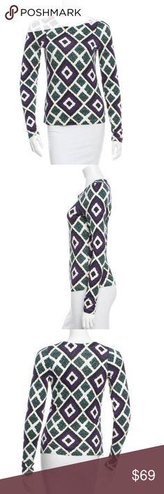KENZO multi print top Sz small purple Purple and green multi print top stunning piece! Kenzo Tops Blouses