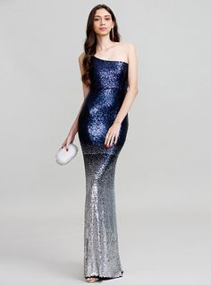 79.99  Sheath   Column One Shoulder Floor Length Polyester Cocktail Party    Prom   Formal Evening Dress with Sequin by TS Couture® 3ce2f2f16fb8