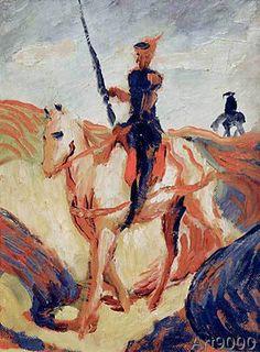 August Macke - Don Quichotte