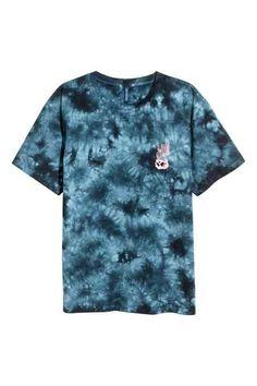 T-shirt z batikowym wzorem