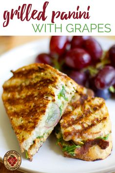 Grape Recipes, Fall Recipes, Dinner Recipes, Vegetarian Recipes, Healthy Recipes, Simple Recipes, Soup And Sandwich, Sandwich Recipes, Grilling Recipes