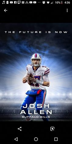 """""""I will be hyped for Josh Allen because I have been wanting a franchise qb for awhile. Please respect that. Buffalo Bills Football, Giants Football, College Football, Josh Allen Buffalo Bills, Wwe Girls, Football Uniforms, Sports Teams, Mafia, Fun Things"""