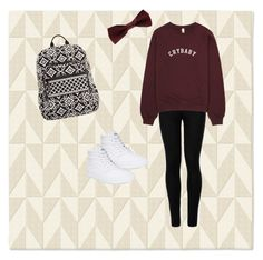 """""""School"""" by michel-phan ❤ liked on Polyvore featuring West Elm, Wolford, Vans, Forever 21 and Vera Bradley"""