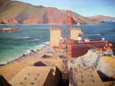 Golden Gate Bridge 1934 New Deal Painting at Smithsonian American Art Museum