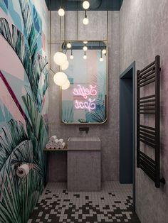 "DE&DE/Beauty salon ""Tricky mechanics"" on Behance Best Picture For home design art living rooms For Y Hair Salon Interior, Salon Interior Design, Interior And Exterior, Interior Ideas, Design Salon, Beauty Salon Design, Bar Interior, French Interior, Design Interiors"