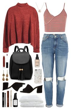 Zadeh by sophiehackett on Polyvore featuring H&M, Topshop, River Island, Maryam Nassir Zadeh, Luna Skye, Kate Spade, Anastasia Beverly Hills, Bobbi Brown Cosmetics, Edward Bess and Lord & Berry
