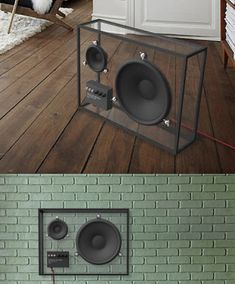 The transparent design lets the speaker blend in to any living room out there. The size can be big enough to offer a good sound quality, yet the speaker takes little visible space Rooms Ideas, Audio Room, Transparent Design, Speaker Design, Cool Tech, Deco Design, Design Tech, Design Design, Industrial Design
